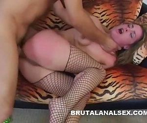 Isabelice gets totally ruined by a thick cock in every hole - 6 min