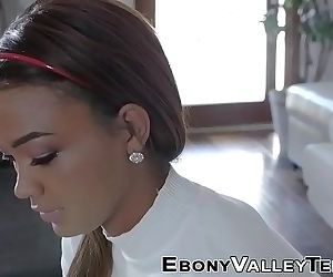 Ebony teen rides shlong 8 min HD