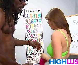Schoolgirl Pressley Carter gets stuffed by bbctuffed by big black teacher cock - 7 min