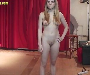 Blond and horny - the very first time - 7 min HD