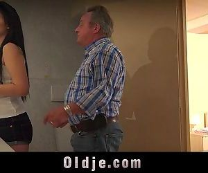 Young vagina needs every day fuck from step-father old dickHD