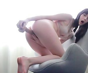 Pale Girl Bends Over a Chair for You
