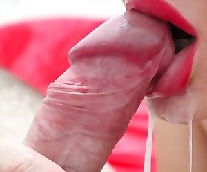 Close up Cum in mouth!