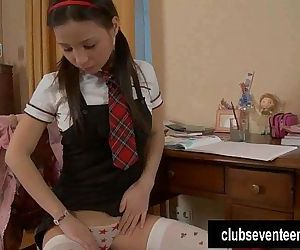 Sweet teen Marizza riding a dildoHD