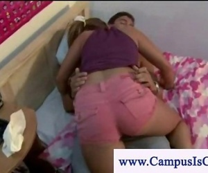 Curious college girls watch rough sex