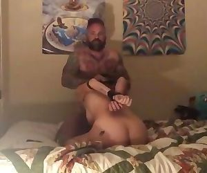Sweet tiny girl takes rough treatment from her daddy